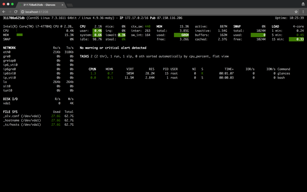 install glances system monitoring tool